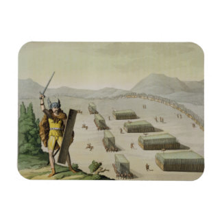 Ancient Celts or Gauls in Battle, c.1800-18 (colou Magnet