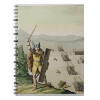 Ancient Celts or Gauls in Battle, c.1800-18 (colou Notebook