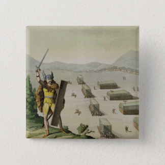 Ancient Celts or Gauls in Battle, c.1800-18 (colou Pinback Button