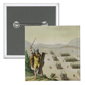 Ancient Celts or Gauls in Battle, c.1800-18 (colou Pinback Button