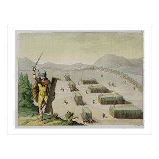Ancient Celts or Gauls in Battle, c.1800-18 (colou Postcard
