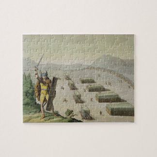 Ancient Celts or Gauls in Battle c 1800-18 colou Jigsaw Puzzles