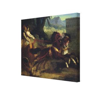 Ancient Chariot Race Canvas Print