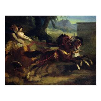 Ancient Chariot Race Postcard