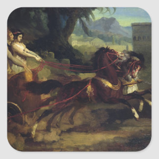 Ancient Chariot Race Square Sticker
