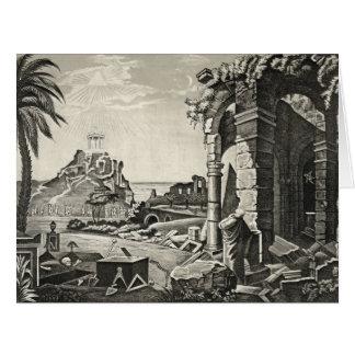 Ancient Chart 1857 Card
