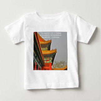 Ancient Chinese Architecture Confucius Quote Gift Baby T-Shirt