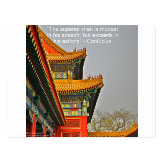 Ancient Chinese Architecture Confucius Quote Gift Postcard