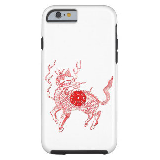 Ancient chinese auspicious dragon horse Lung Ma Tough iPhone 6 Case