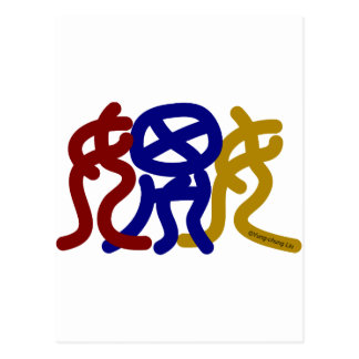 Ancient Chinese Characters for Flirting Postcard
