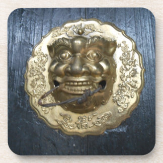 ancient chinese door knocker drink coaster