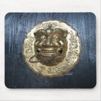 ancient chinese door knocker mouse pad
