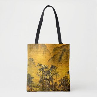 Ancient Chinese Landscape Tote Bag