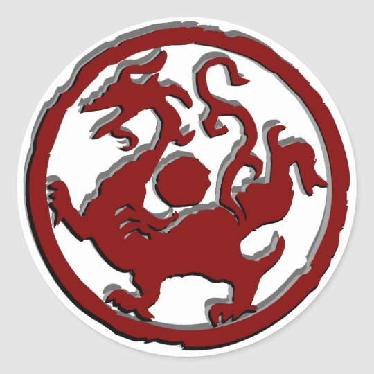 Ancient Chinese Symbol Dragon Classic Round Sticker Zazzle