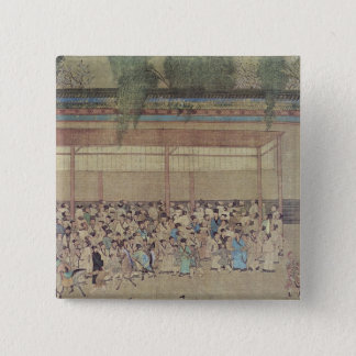 Ancient Chinese Waiting for Examination Pinback Button