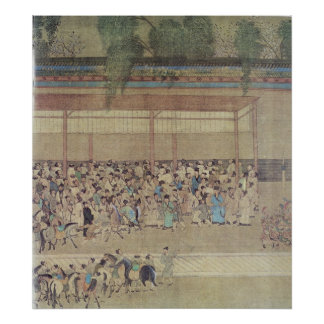 Ancient Chinese Waiting for Examination Poster