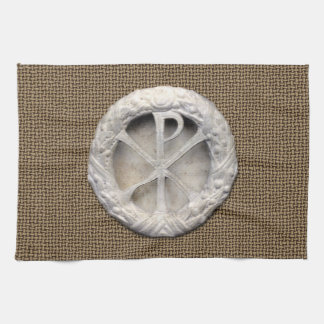 Ancient Christogram Hand Towel