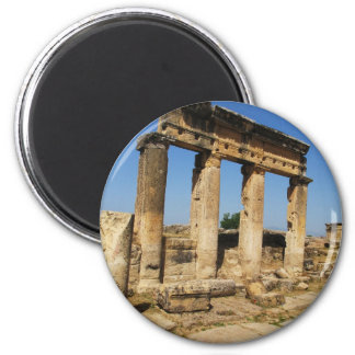 Ancient City Of Hierapolis -  a pagan cult center 2 Inch Round Magnet