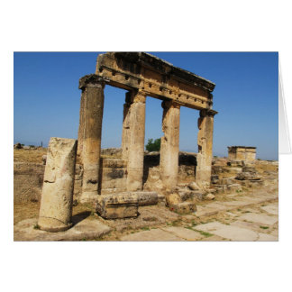 Ancient City Of Hierapolis -  a pagan cult center Card