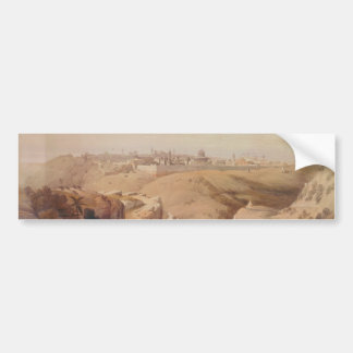 Ancient City of Jerusalem from the Mount of Olives Bumper Sticker