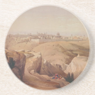 Ancient City of Jerusalem from the Mount of Olives Drink Coaster