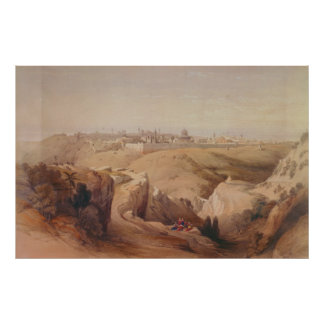 Ancient City of Jerusalem from the Mount of Olives Poster