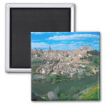 Ancient city of Toledo, Spain. 2 Inch Square Magnet