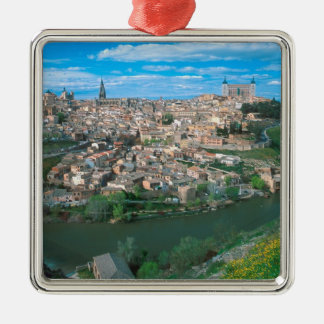 Ancient city of Toledo, Spain. Square Metal Christmas Ornament