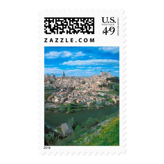 Ancient city of Toledo, Spain. Postage