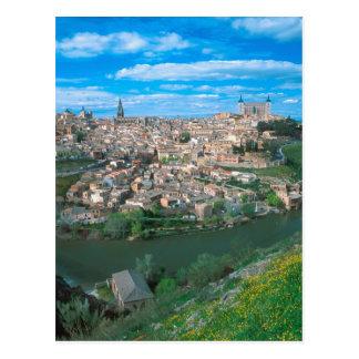 Ancient city of Toledo, Spain. Postcard