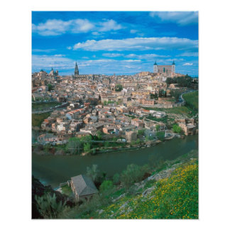 Ancient city of Toledo, Spain. Poster