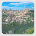 Ancient city of Toledo, Spain. Square Stickers