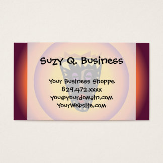 Ancient Civilization Tribal Mask Glowing Sun Business Card