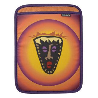 Ancient Civilization Tribal Mask Glowing Sun iPad Sleeve