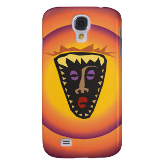 Ancient Civilization Tribal Mask Glowing Sun Samsung Galaxy S4 Cover