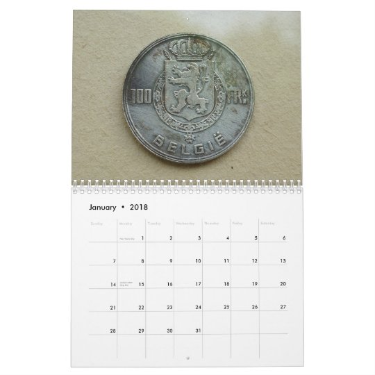 Ancient Coins Photography Collection Calendar