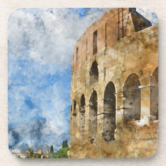 Ancient Colosseum in Rome Italy Coaster