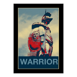 Ancient Colosseum Spartan Warrior Roman Gladiator Poster