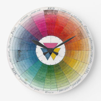 Ancient Colour Wheel Timepiece Large Clock