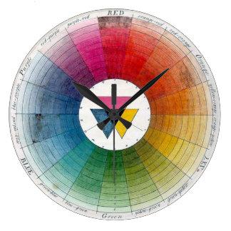 Ancient Colour Wheel Timepiece Large Clock