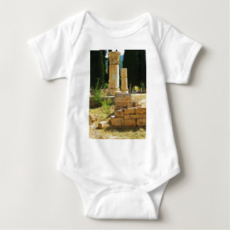 Ancient columns in Pamukkale, Hierapolis, Turkey Baby Bodysuit