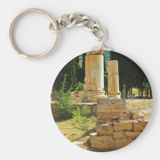 Ancient columns in Pamukkale, Hierapolis, Turkey Keychain