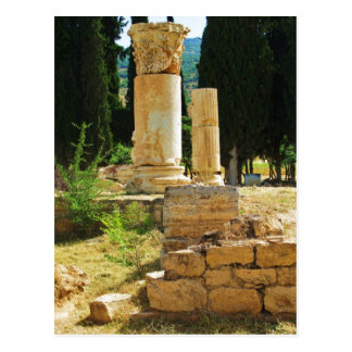 Ancient columns in Pamukkale, Hierapolis, Turkey Postcard