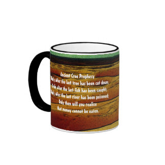 Ancient Cree Prophecy Ringer Coffee Mug