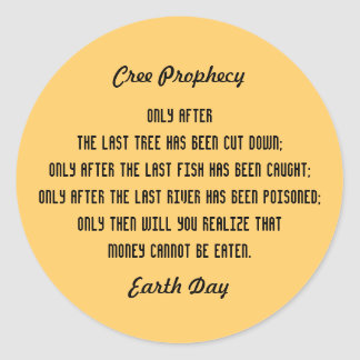 Ancient Cree Prophecy Classic Round Sticker