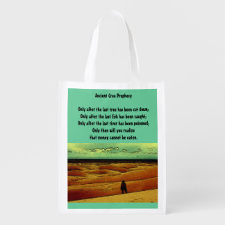 Ancient Cree Prophecy Market Totes