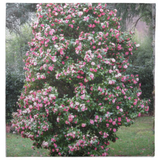 Ancient cultivar of Camellia japonica flower Cloth Napkin