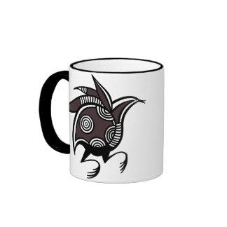 Ancient Cypriot bird motif accented mug