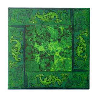Ancient Designs In Emerald Third Of Four Ceramic Tile