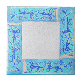 Ancient Designs In Sky Blue Second Of Four Ceramic Tile